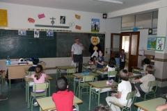 Con el Padre Chaminade en clase